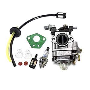 WOWOWO Kit carburateur pour débroussailleuse 52cc 49cc 43cc avec Joint Tuyau Bougie Essence