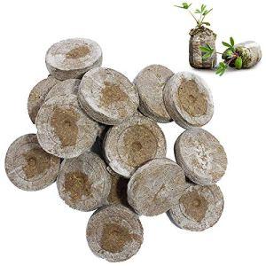 WRYIP Lot de 50 pastilles de tourbe de coco pressées pour la culture des plantes sans tourbe