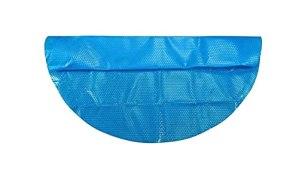 Wuhanyimang Bâche de protection solaire ronde pour piscine – Utilisation du soleil pour chauffer l'eau de la piscine – Bâche imperméable bleue de qualité supérieure (360x360cm)