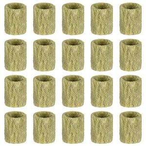 Yardwe 20 Pièces Hors- Sol Culture Rock Laine Plug Semences De Plantes Clip Croissance Plug Rock Laine Bloc