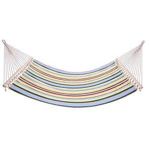 YCCYYYI Lits Doubles d'oscillation de Plage de hamac de Style d'impression élégant pour Le Beige de Voyage de Camping extérieur