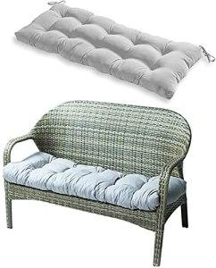 YQLWX Coussin de banc intérieur/extérieur, 130 x 50 cm, pour chaise longue, mobilier de jardin, chaise longue, banc (noir) (couleur : gris)