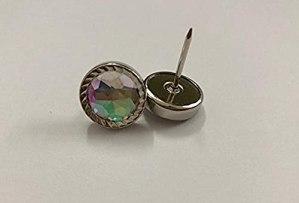 ZHONGJIUYUAN Lot de 50 clous décoratifs en cristal de diamant 20 x 16 mm