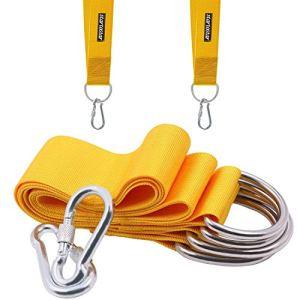 Zooma Hamac Sangles Arbre balançoire à Suspendre Corde kit d'accessoires de Long avec verrou de sécurité Mousqueton Crochet pivotant