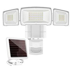 1500LM LED lumineux LED Jardin Solar Security Capteur de mouvement extérieur Capteur de capteur réglable Distance Distance Flood lumière avec 3 Tête réglable (Emitting Color : 3 Head)