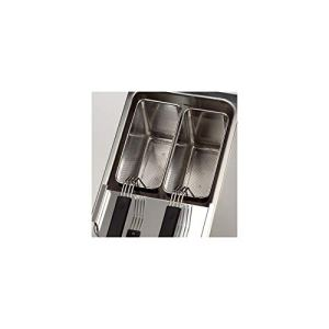 2 Paniers inox perforés – 140 x 296 mm pour cuiseurs à pâtes – Valentine –