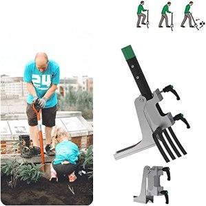 2021 Un Assistant de Jardinage Portable, Une Fourchette de Jardin et Une Pelle en Acier Inoxydable Vous aident à Creuser, appareils d'assistance au Jardinage Planter et désherber Plus efficacement