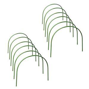 æ— Lot de 12 cerceaux de serre de jardin durables – Support de serre tunnel pour serre de jardin