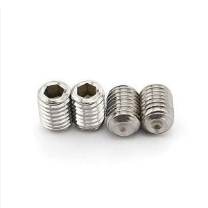 APcjerp Lot de 50 vis sans tête à six pans creux M1,6 M2 M2,5 M3 M4 M5 DIN916 en acier inoxydable 304 de qualité 12.9 en alliage d'acier inoxydable (couleur : acier inoxydable, taille : 2,5 mm)