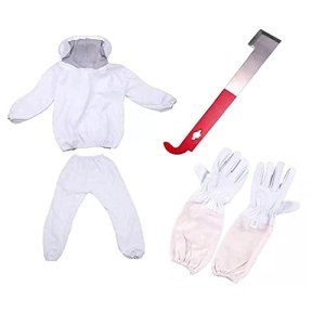 Apiculture Costume Bee Épreuve Vêtements Professinal Costume Avec J-forme Scraper Et Gants Pour Bee Farm, Apiculture Soins Élevage
