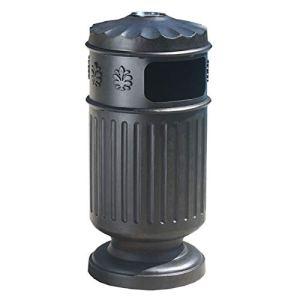 Bacs à ordures Poubelle ronde avec cendrier et seau interne amovible, poubelle en aluminium moulé pour parcs pittoresque de jardin Déchets et recyclage