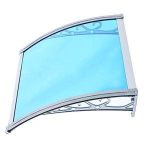 Balancelles avec auvent Arqués Auvent/Polycarbonate Porte Auvent/Porte Avant ou fenêtre Canopy, PC Feuille de Polycarbonate + Support en Alliage d'aluminium, Facile à Installer et Abri extérieur C