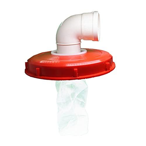 Baoblaze IBC Couvercle Filtre, IBC Couverture Filtre l'eau de Pluie Couvercle du Filtre pour Jardin Outils IBC Réservoir d'eau Pièces – 245mm 90 degrés