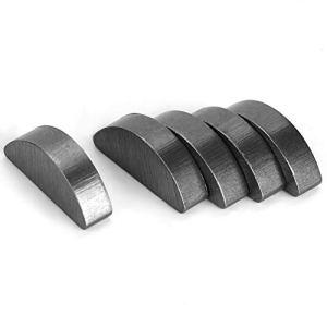BORDSTRACT Clés Woodruff, Kit de tri de clés de copeaux de Bois en métal, 100 pièces 45# Kit d'accessoires de kit de Woodruff de Liaison de Cadre en Acier 3x5x13mm
