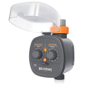 Brandson – Minuterie d'arrosage Automatique, Contrôleur système d'irrigation, Programmateur d'eau, Minuteur d'arrosage, Durée du Programme d'irrigation 1 à 120 Min, Cycle de 1 à 72 Heures par Semaine