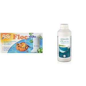 BSI Floc Socks Chaussette de floculation & GRE 76041 Anti-algues 1L, Blanc, 8 x 8 x 23 cm