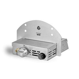 BURNHARD Module de gaz brûlé pour Four à Pizza extérieur Nero, unité de brûleur à gaz Compatible avec Une Bouteille de gaz de 5 kg, 8 kg et 11 kg