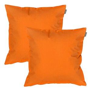 Coussins de chaises de jardin imperméables rembourré de fibres, coloré Orange