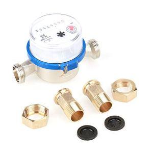 DeWin Compteur d'eau – 15mm 1/2″Compteur d'eau Froide en Plastique for la Maison de Jardin