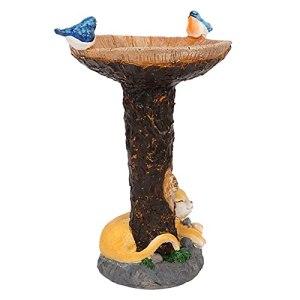 DUDUDU Bain D'Oiseaux sur Pied, Bains pour Oiseaux Sauvages, Jardin Mangeoire Oiseaux, Bain D'Oiseaux – Bains D'oiseau De Jardin Forme De Champignon pour Oiseaux Sauvages