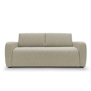Duna Canapé lit double 2 places et 3 places en tissu avec matelas 20 cm