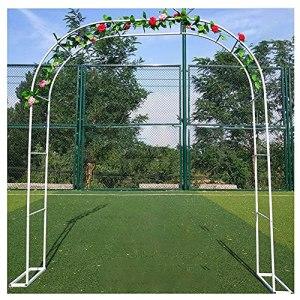 DunShan Arche Jardin Support pour Plante Jardin Trois Dimensions Métal Bois Résistant l'usure Corrosion Personnalisation Support Blanc