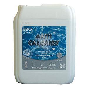 EDG by AQUALUX INTERNATIONAL Anti CALCAIRE Liquide Anti Calcaire Piscine et Spa – Bidon 5 litres – Anti tartre – Anti Eau Laiteuse