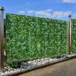 Eruditter Artificielle Clôture Feuillage Balcon Protection, Écran De Balcon De Clôture De Jardin D'aménagement De Mur, Clôture Brise Vue Et Pare-Soleil pour Jardin