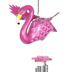 Exhart Windywings Flamingo Carillon, Grande, Rose,