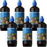 FARMLIGHT Olio per Torce 6X 1L Huile Torches, Pet, Bleu