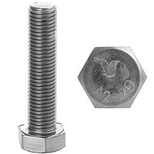 Faston Lot de 10 vis à tête hexagonale M10 x 45 en acier inoxydable A2 V2A DIN 933