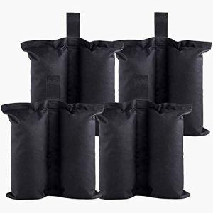 FENRIR Poids de Sable Gazebo, 4 pièces Sacs de lestage pour tonnelle et pavillon,Sac de lestage Robuste de qualité,Poids pour Les Jambes pour Jambes, tentes Pare-Soleil, Parasol