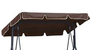 Ferocity Toit de Rechange pour balancelle Canopée pour Balancelle de Jardin balançoire Soleil Toit résistant au Soleil Taille 210 x 145 cm Marron [101]