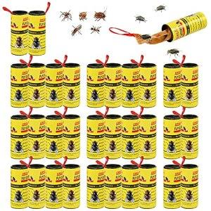 FGen Attrape Mouches Interieur,32 pcs à Mouches Collantes,Tueur De Mouches en Papier,Piège à Insectes Collants en Rouleau De Papier à Mouches Volants Intérieurs Et Extérieurs