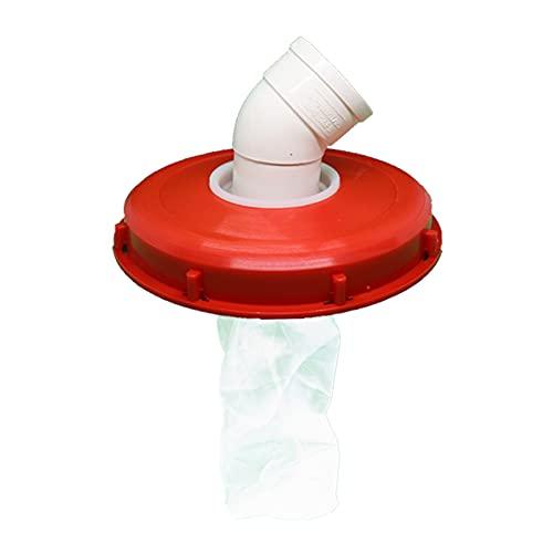 FLAMEER IBC Couvercle Filtre Lavable avec Couvercle pour la Pluie d'eau Réservoir IBC IBC Réservoir d'eau Pièces Accueil Jardin Outils – 245mm 45 degrés