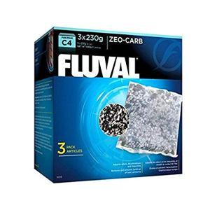 FLUVAL Zeo-Carb Pack de 3 Accessoires pour Filtre à Moteur C4 pour Aquariophilie 230 g