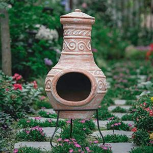 Fournitures de jardinage, décoration de jardin de poêle en terre cuite, terrasse de villa, aménagement extérieur de la cour extérieure(Color:B)