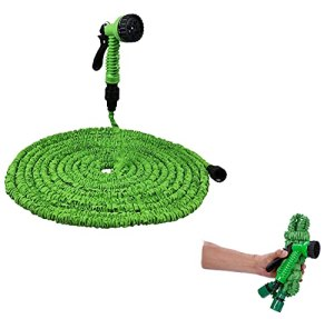 Garden Hose Expandable Water Hose 25/50/75/100 FT, Pipe 3 Times Expanding Water Hose with High Pressure Hose 7 Function Spray Nozzle for Lawn Pet Car Boat Wash Gardening Supplies (25FT,A)