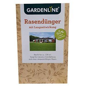 Gardenline Engrais pour gazon à efficacité longue durée–Pour env. 130m² Gazon–3kg