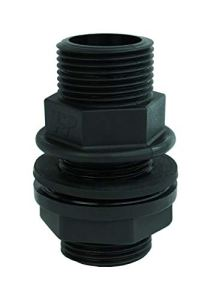 GASMIS Lot de 2 traverses de réservoir d'eau de pluie – 2 filetages extérieurs 1″ AG x 1″ AG 33,25 mm