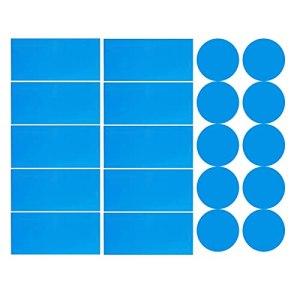 GeKLok Lot de 10 patchs de réparation autocollants en PVC pour piscine et bateau – Bleu