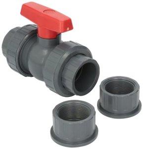 Hayward Qta1015cseg 1–1/5,1cm Gris Qta Série véritable Union PVC Compact Ball Valve avec EPDM joints toriques