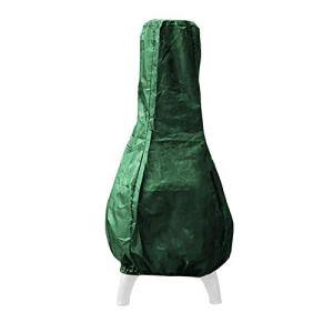 Housse de protection pour foyer extérieur étanche, portable et fiable, facile à enlever, universelle en toutes saisons (vert/noir)