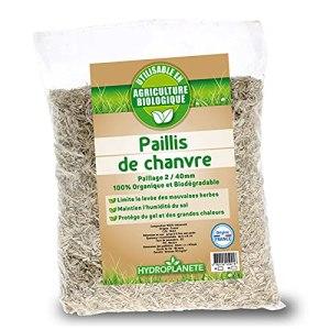 HYDROPLANETE Paillis de Chanvre en Sacs de 10L ou 50L – Paillage pour Potager 100% Naturel – Cultivé en France sans Aucun Pesticides – Utilisable en Agriculture Biologique. (10 litres)