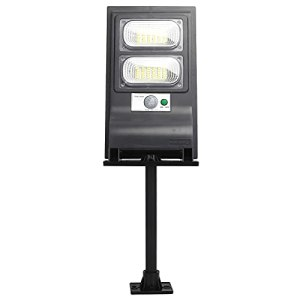Hyuduo Réverbère à énergie Solaire, Lampe à Détecteur de Mouvement à 60 LED, éclairage de Sécurité Suspendu sur Poteau Mural pour Cour Extérieure étanche IP 65 pour Parking de Terrasse de Rue
