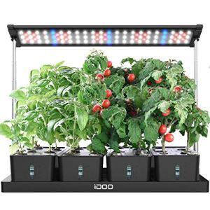 iDOO Jardin d'intérieur, 20pods Jardin d'herbes d'intérieur avec Lampe LED Croissance, kits de culture hydroponique avec minuterie, 4 réservoirs d'eau amovibles, réglables en hauteur, I-D-01