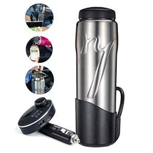 Joint Buy.R – Chauffage d'eau chaude électrique intelligent, contrôle à un bouton, protection anti-sèche, 12 V/24 V, chauffage rapide universel de l'eau bouillante, argent