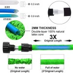 JWKK Garden Hose Expandable Water Hose 25/50/75/100 FT, Pipe 3 Times Expanding Water Hose with High Pressure Hose 7 Function Spray Nozzle for Lawn Pet Car Boat Wash Gardening Supplies (B,100FT)