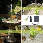 Kaikso-In Fontaine à eau solaire en forme de pétale avec pompe à énergie solaire pour jardin, étang, piscine