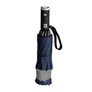 LITINGT Parapluie Pliant Automatique, avec Parapluie de Pluie réfléchissant de Lampe de Poche LED, dix parapluies d'affaires en os